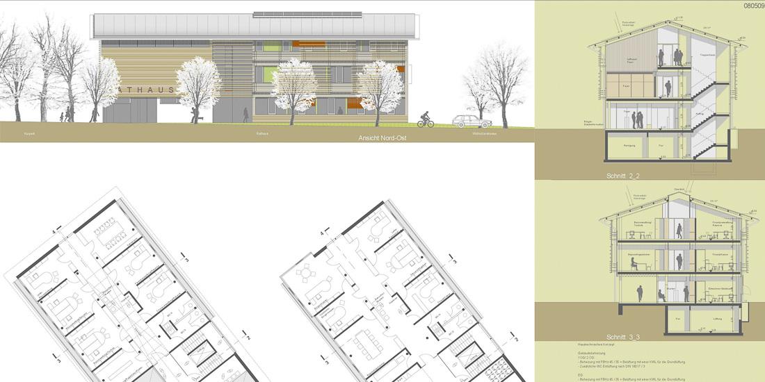 wettbewerb rathaus bernau am chiemsee, Innenarchitektur ideen